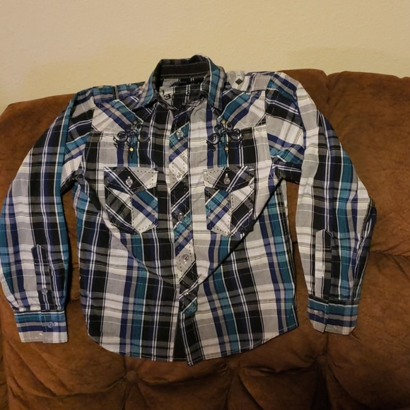 Jack Other - 4/$20 Boys plaid button up shirt